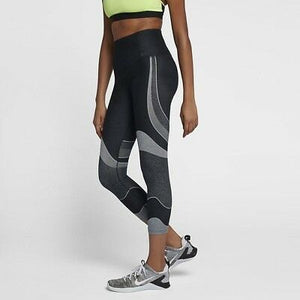 Women's NIKE POWER Pocket Lux Mid Rise Training Crops  890672-010