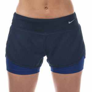 "Women's Nike Rival Jacquard Running 2 in 1 3"" Shorts     X/Large        719757-451"