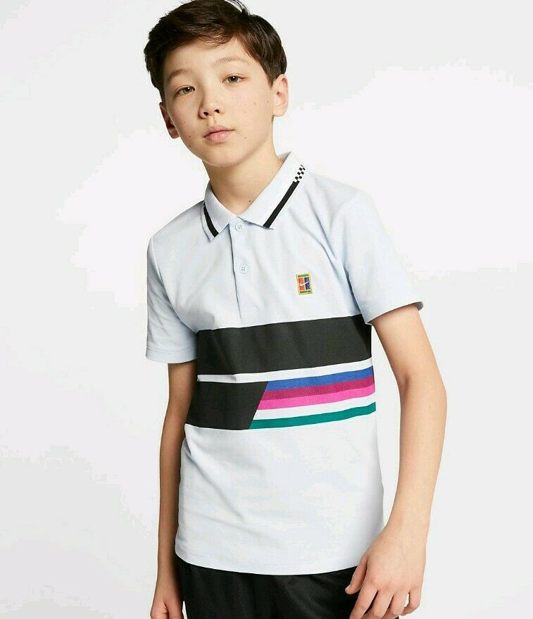 Boys Nike Court Advantage Polo Shirt.      AR2381-442