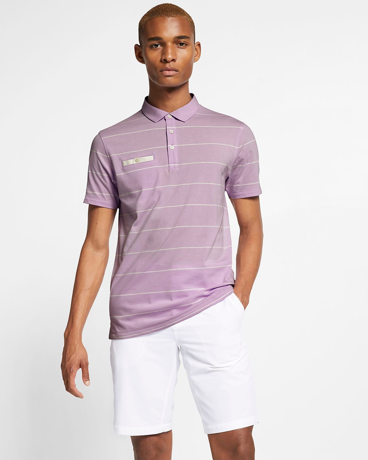 Men's Nike Golf Dri Fit Player Striped Polo Shirt.      AT8946-543