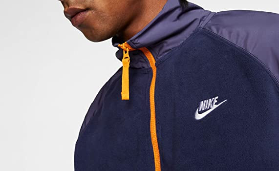 Mens Nike Polar Fleece 1/2 Zip Jacket           BV3596-410