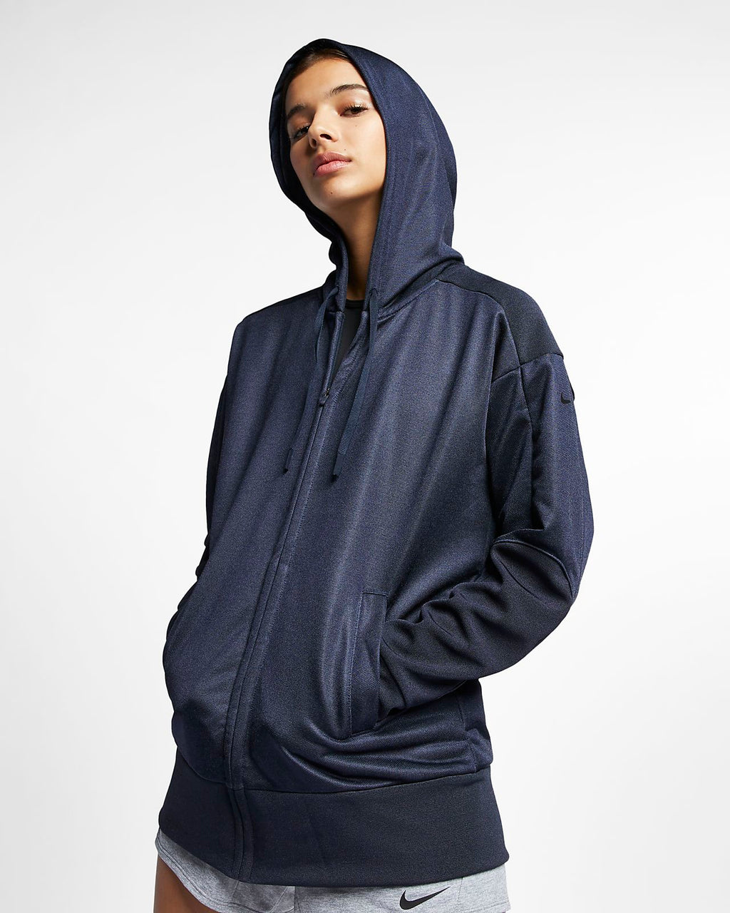 Women's.Nike Full-Zip Training Shimmer Hoodie      929832-451