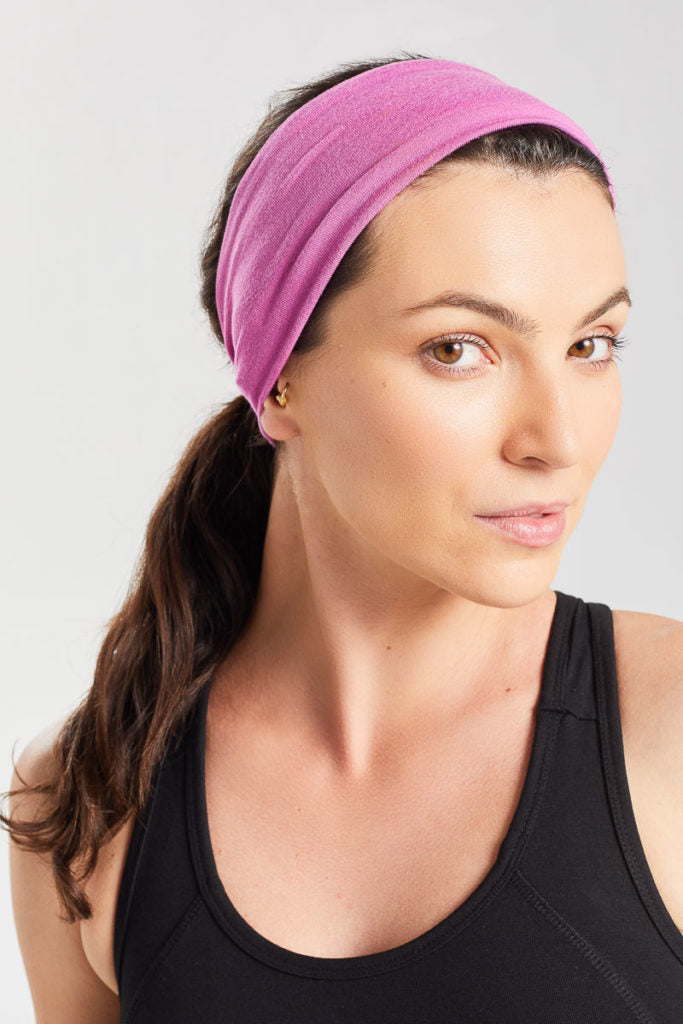 Women's Bamboo Fitness Headband BAM607 Pomegranate Marl