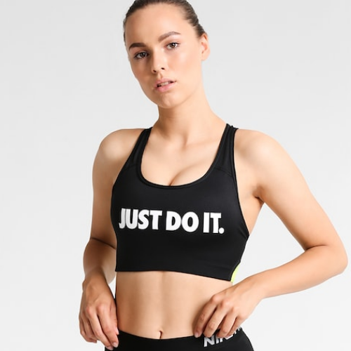NIKE PRO CLASSIC SWOOSH JUST DO IT Training Bra   AA2112-010