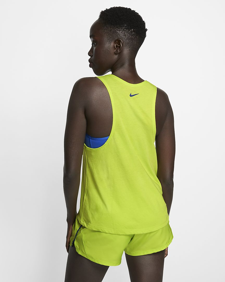 Womens NIKE RUNNING MILER TRAINING TANK.   AQ5179-389