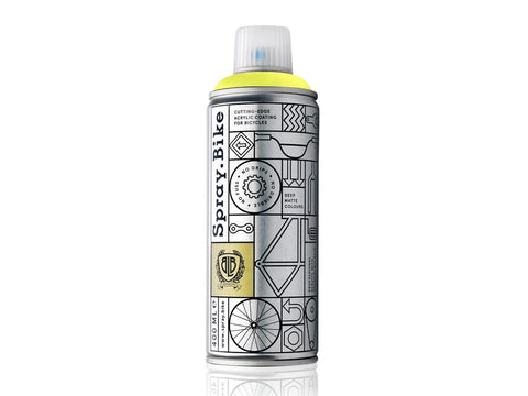 spraydotbike fluorescent yellow spray paints