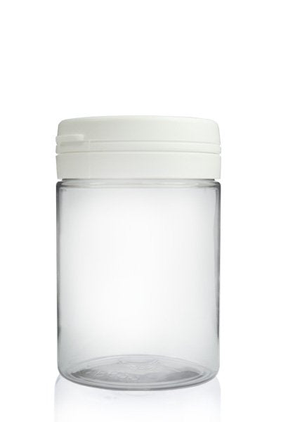 Clear PET Plastic Jar with Tamper Evident Lid
