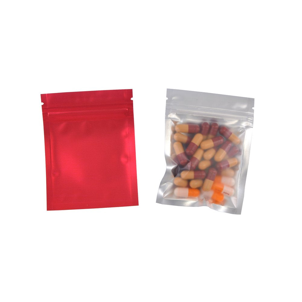 Zip Lock Bags With Clear Window - 100 piece pack