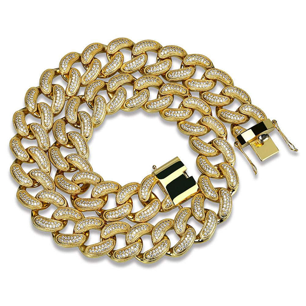 28mm Cuban Chain in Yellow Gold