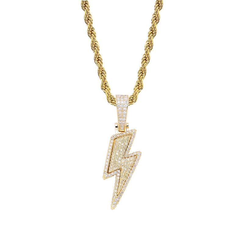 Bolt Pendant in Yellow Gold