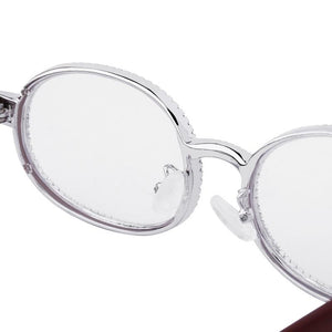 Cartier Iced Out Glasses in White Gold