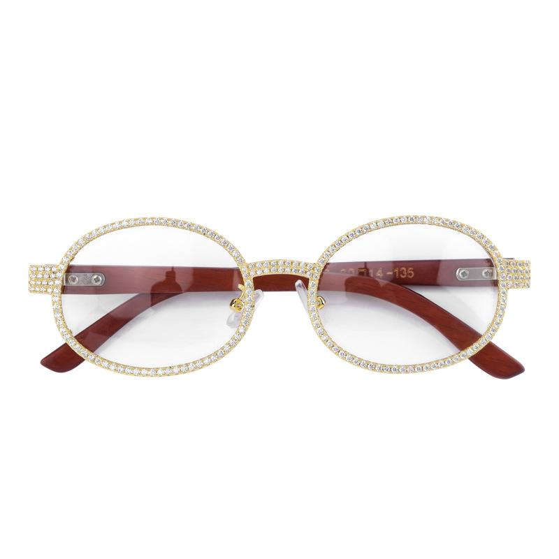 Cartier Iced Out Glasses in Yellow Gold
