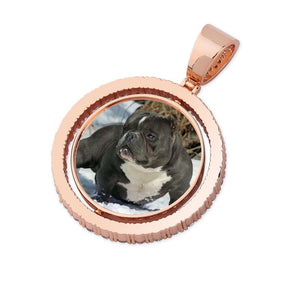 Custom Pendant With Picture in Rose Gold