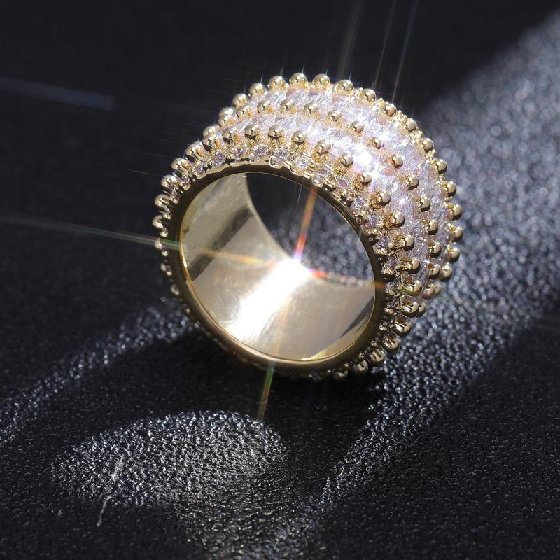 2 Layer Baguette Ring in Yellow Gold