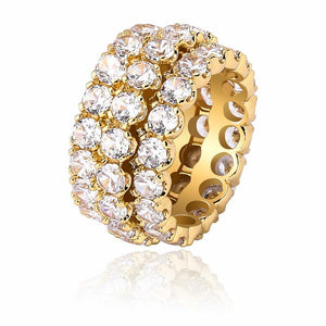 3 Layer Diamond Ring in Yellow Gold