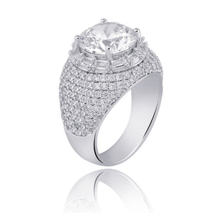 Clustered Diamond Ring in White Gold