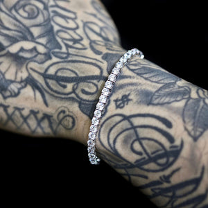 4mm Tennis Bracelet in White Gold