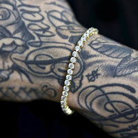 4mm Tennis Chain and Bracelet Set in Yellow Gold