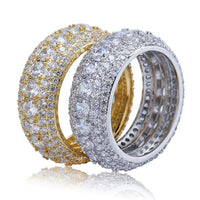 5 Layer Diamond Ring in Yellow Gold