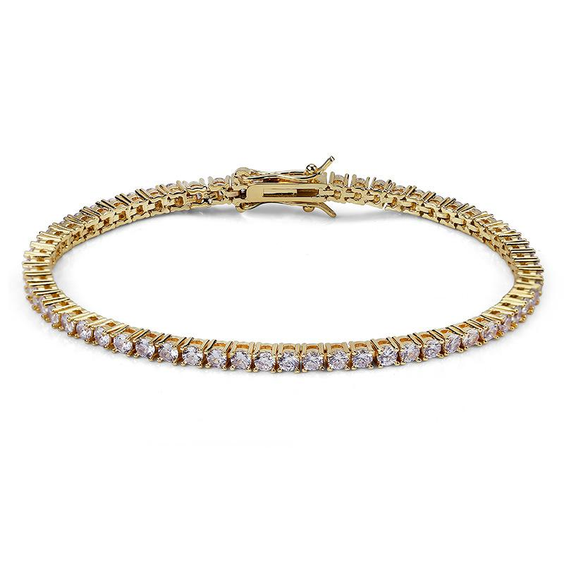 3mm Tennis Chain and Bracelet Set in Yellow Gold