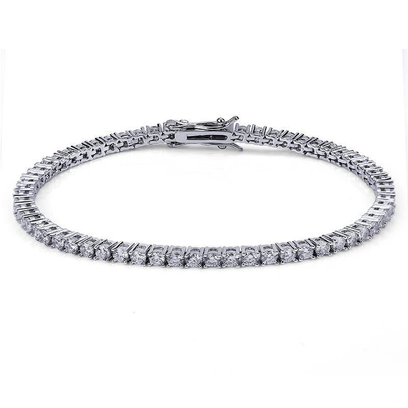 3mm Tennis Chain and Bracelet Set in White Gold