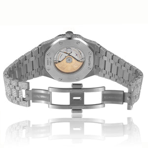 AP Royal Oak Skeleton Diamond Watch in White Gold