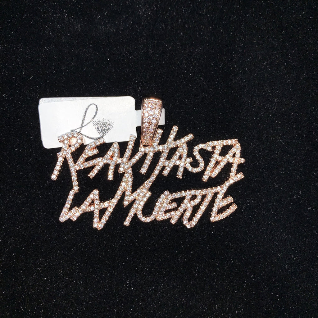 Real Hasta La Muerte Pendant in Rose Gold