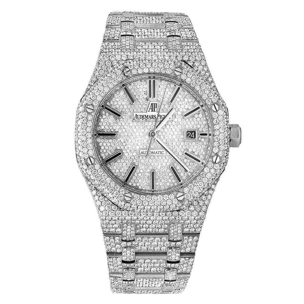 AP Royal Oak Diamond Watch in White Gold