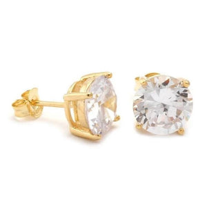 4mm Diamond Earrings Pair in Yellow Gold