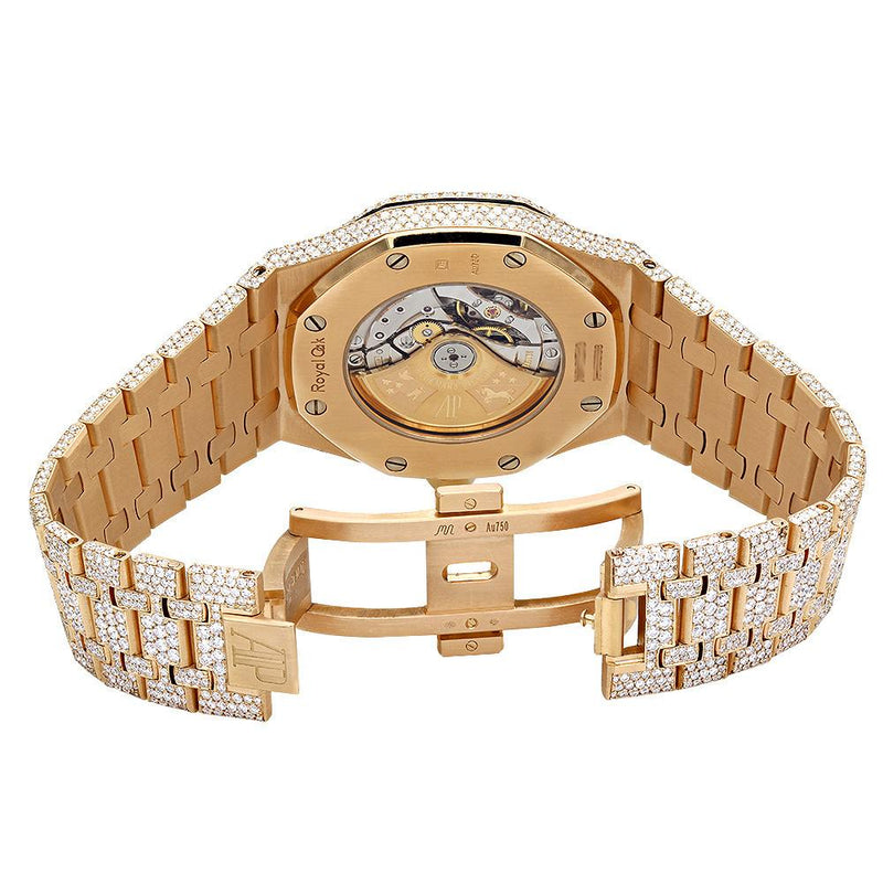 AP Royal Oak Diamond Watch in Yellow Gold