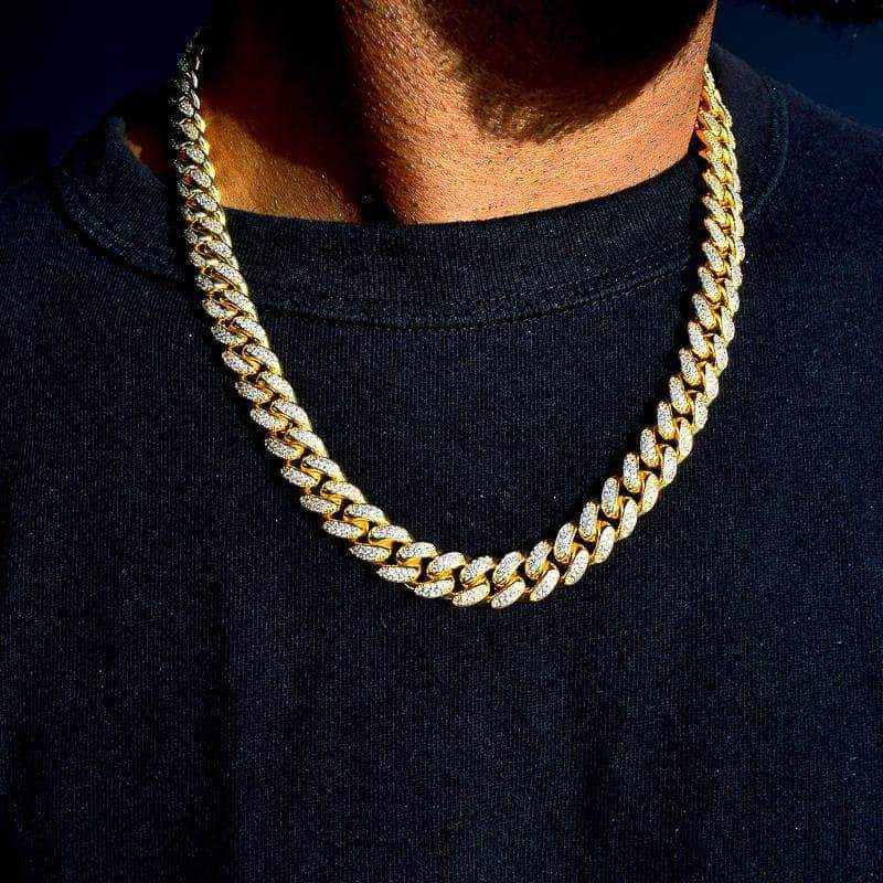 12mm Cuban Chain in Yellow Gold