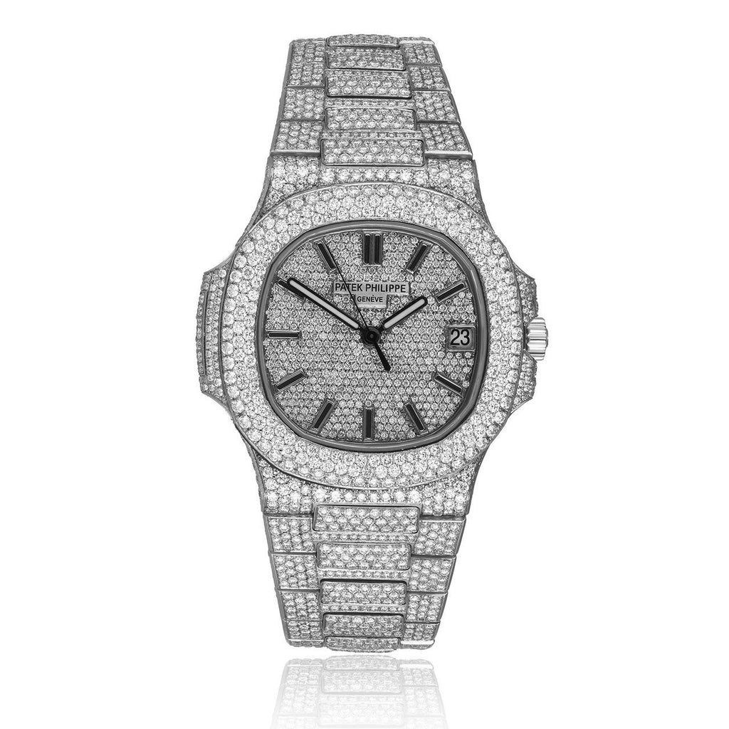 Patek P Nautilus 5711/1A Diamond Watch in White Gold
