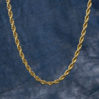 3mm Rope Chain in Yellow Gold