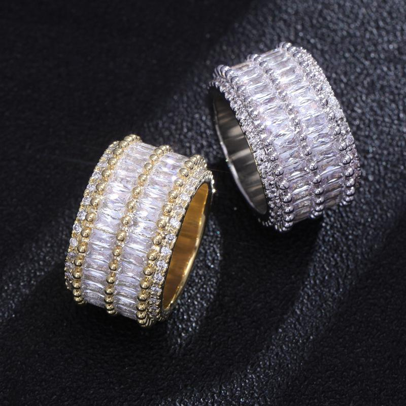 2 Layer Baguette Ring in White Gold