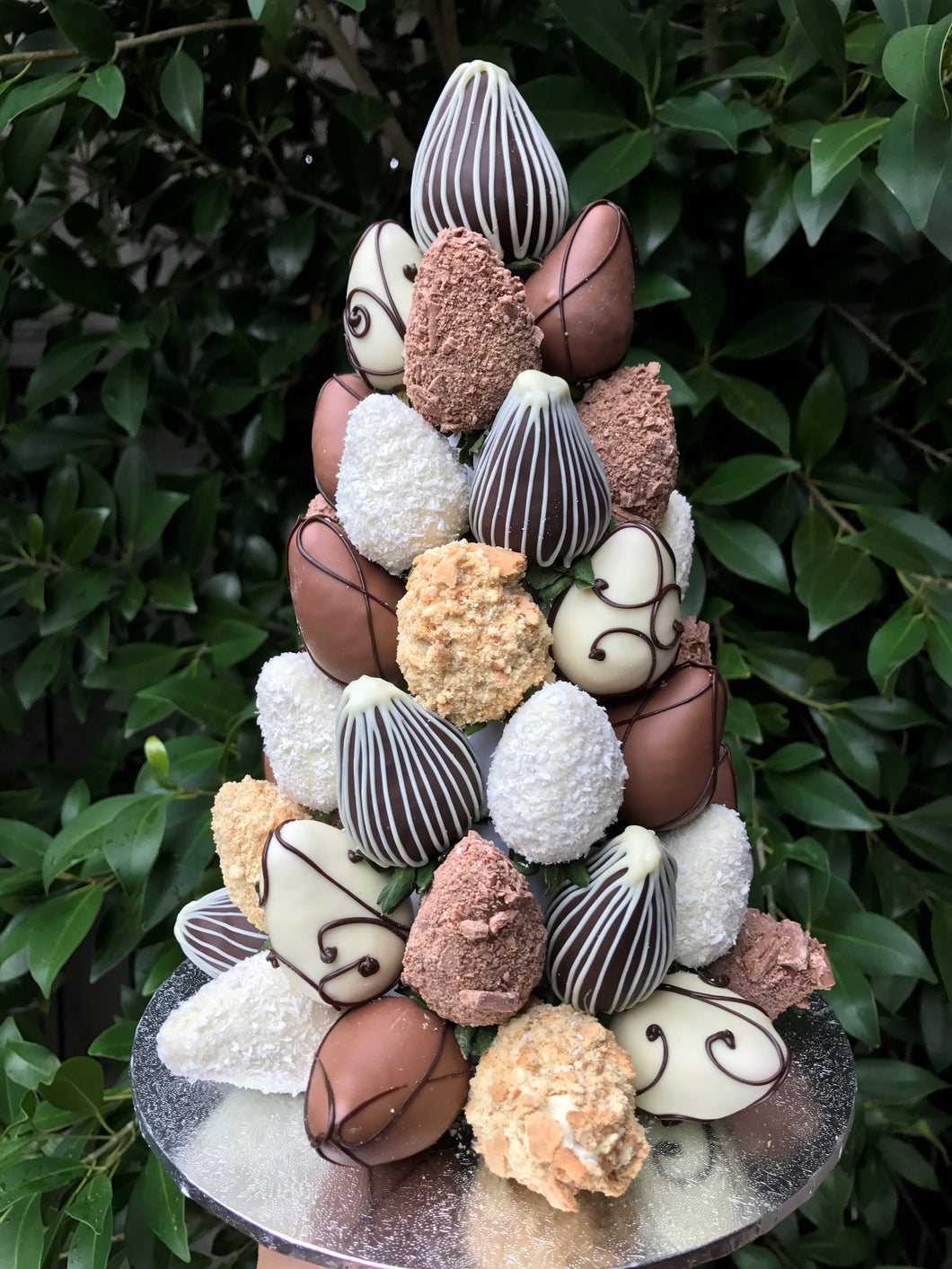 Mixed chocolate strawberry tower dessert made in Melbourne