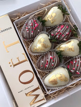 Valentine's Day Strawberry and Champagne Gift Box For Him or Her