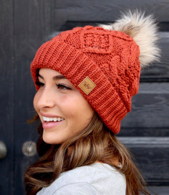 Orange Sweater Beanie