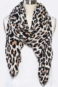 Neutral Leopard Scarf