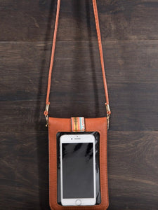 Brown Cellphone Crossbody