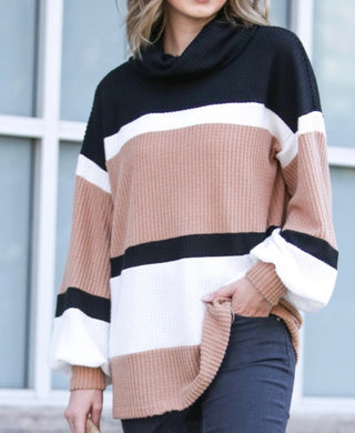 Stripes Oversized Knit Top