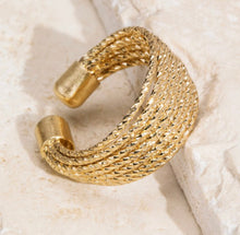 Load image into Gallery viewer, Layered Cuff Ring-Gold