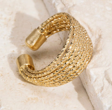 Layered Cuff Ring-Gold