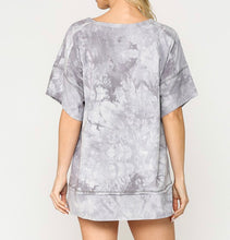 Load image into Gallery viewer, Silver Tie Dye Top
