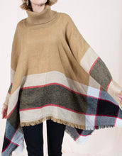 Load image into Gallery viewer, Beige Sweater Poncho