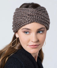 Load image into Gallery viewer, Twisted Knit Headband-Taupe