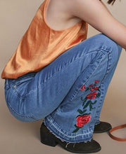 Load image into Gallery viewer, Floral Flare Jean