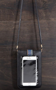 Black Cellphone Crossbody