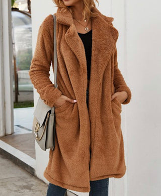 Camel Fleece Coat