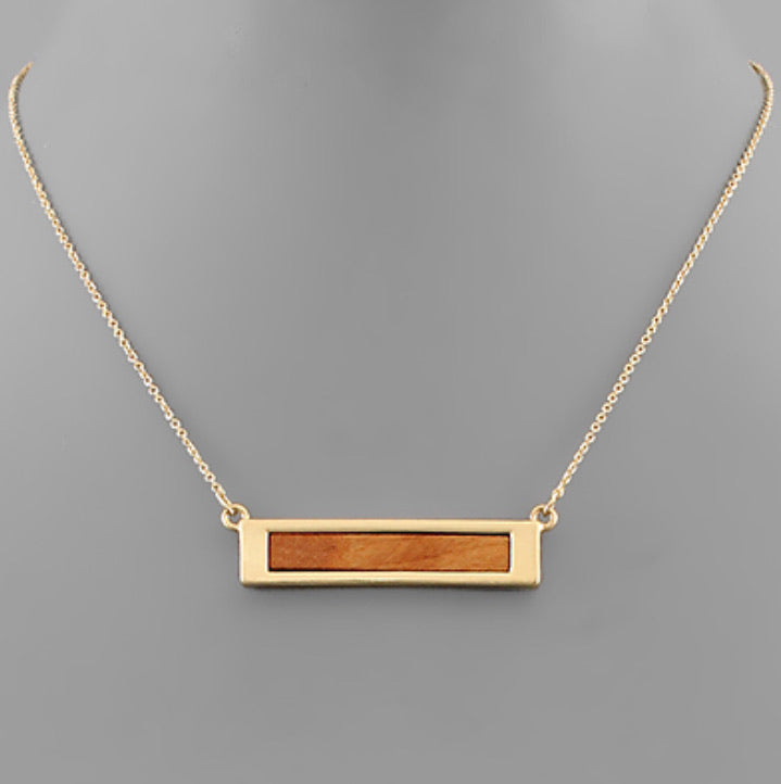 Wooden Bar Necklace
