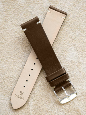 Brown Leather Vintage Watch Band 20 mm